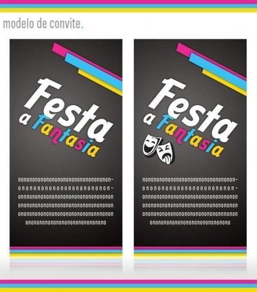 Convite De Aniversário à Fantasia – Modelos De Convite