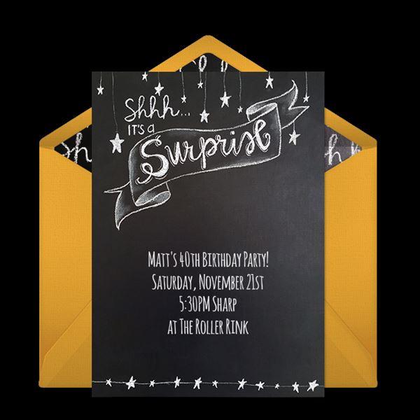Convite Para Aniversário Surpresa  35 Modelos Para Surpreender