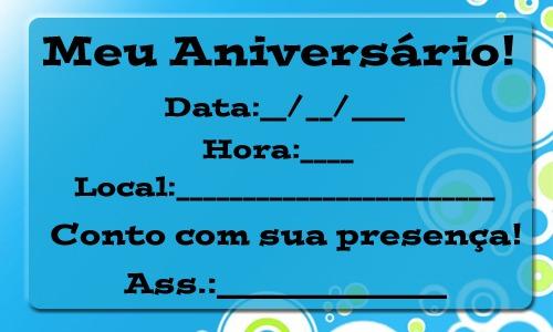 Convite De Aniversario Masculino Para Imprimir » Happy Birthday World