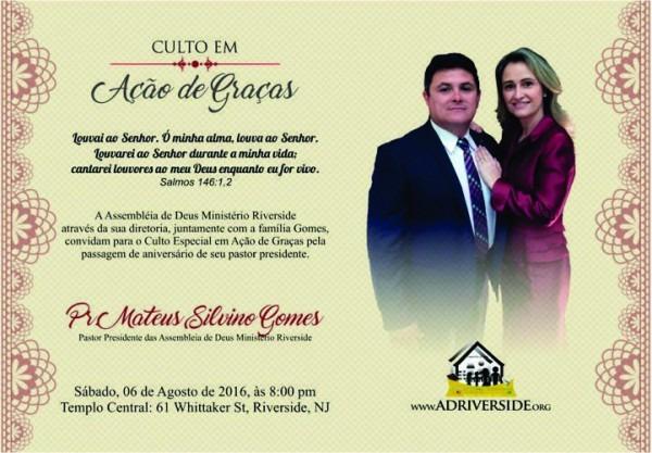 Convite De Aniversario Pastor 4 » Happy Birthday World