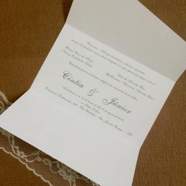 Convite De Casamento Simples E Barato