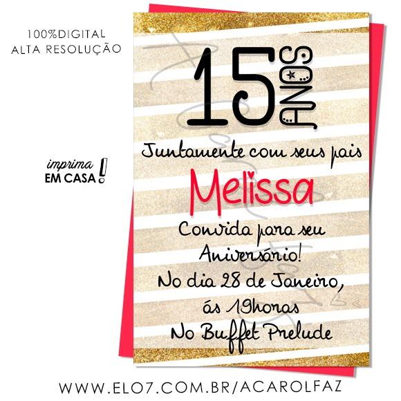 Convite Digital 15 Anos 13 No Elo7