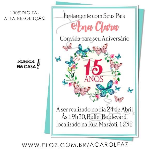 Convite Digital 15 Anos 16 No Elo7