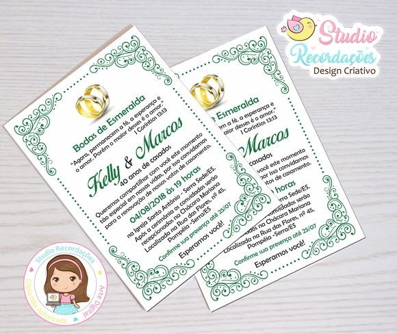 Convite Digital Bodas De Esmeralda Guatemala