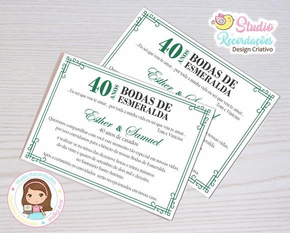 Convite Digital Bodas De Esmeralda Guiana