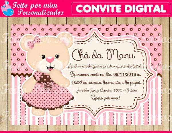 Convite Digital ChÁ De BebÊ