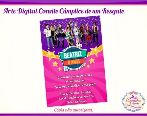 Convite Digital Cumplices De Um Resgate