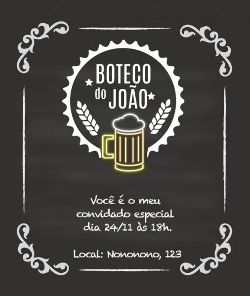 Convite Zap (virtual) Boteco No Elo7