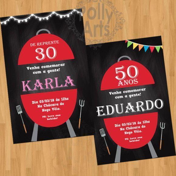 Convite Digital Virtual Churrasco
