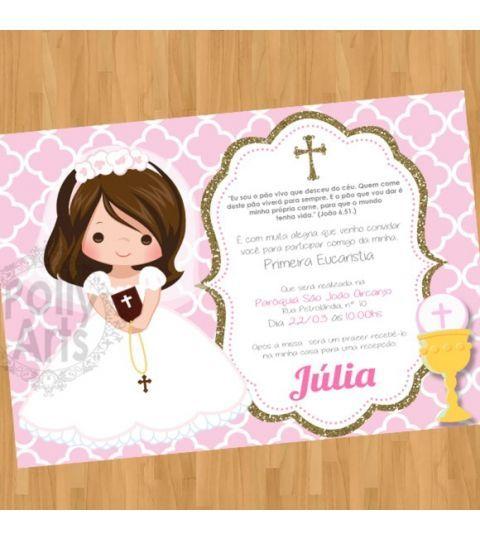 Convite Digital Virtual Primeira Comunhão Primeiraeucaristia