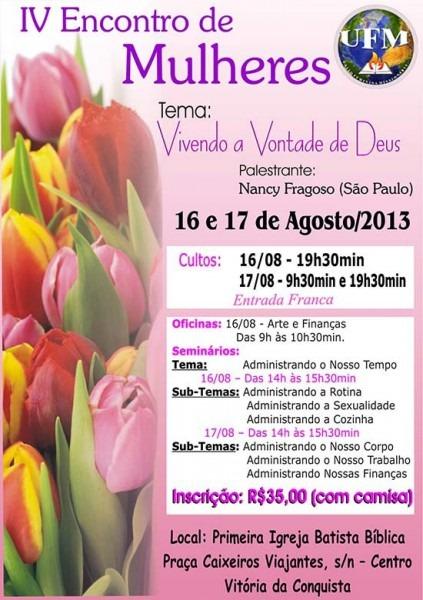Convite Encontro De Mulheres Atualizado Site