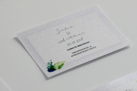 Convite Individual De Casamento Para Imprimir Folhagem V 01 No