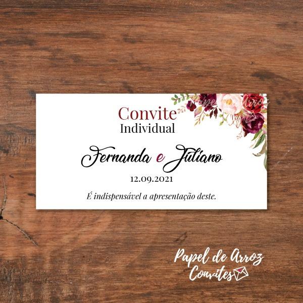 Convite Individual Marsala