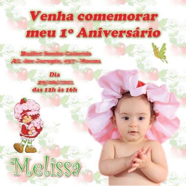 Convite Aniversário 1 Ano