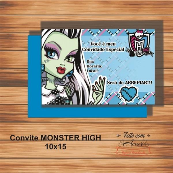 Convite Monster High ( Frankie High) No Elo7