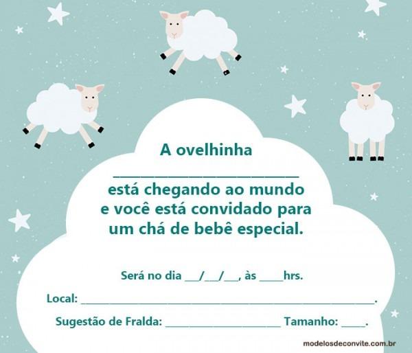 20 Convites Da Ovelhinha Para Chá De Bebê E Aniversário! – Modelos
