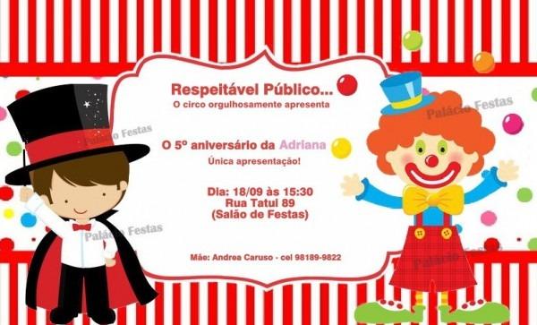 Convite Palhaço No Elo7