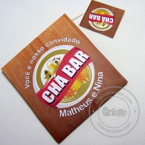 Convite Para Chá Bar  Boteco
