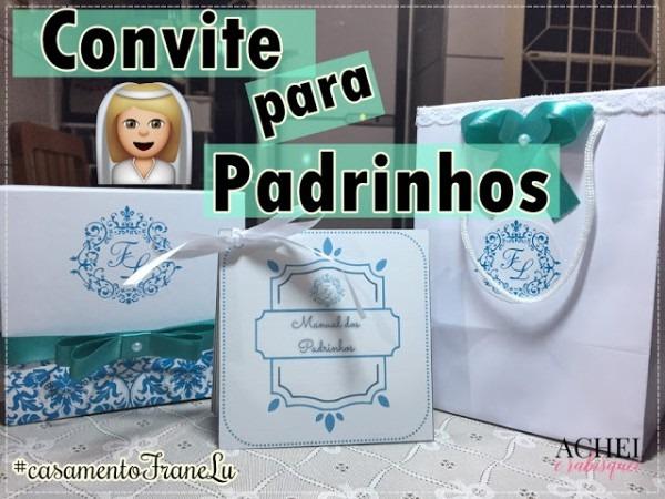Convite Para Padrinhos Personalizado ~ Achei E Rabisquei