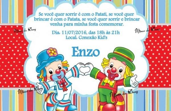 Convite Patati Patata No Elo7