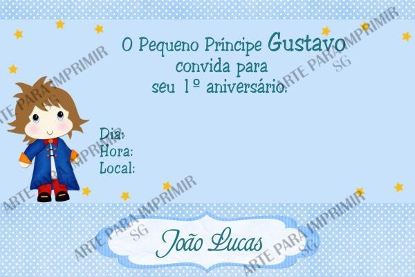 Convite Pequeno Príncipe 2 No Elo7