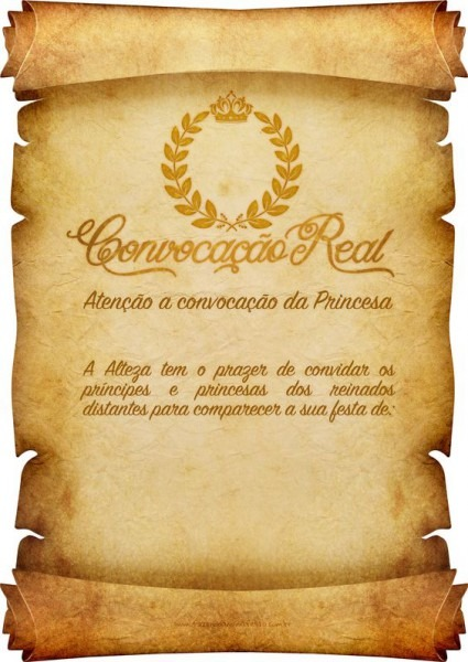 Convite Pergaminho – 35 Ideias Inspiradoras & Modelos P  Imprimir!