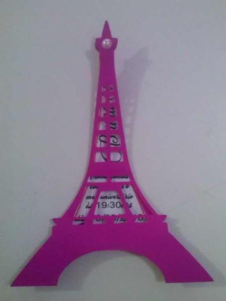 Convite Personalizado Torre Eiffel