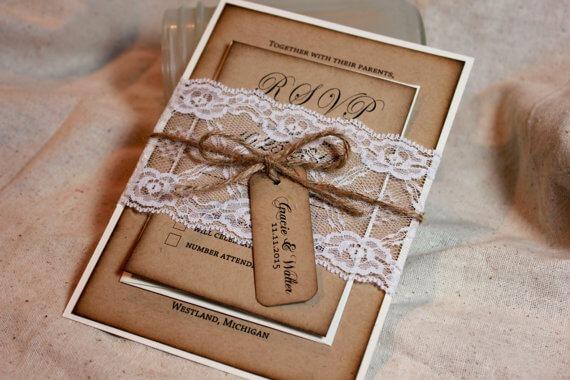 Convite Rústico De Casamento  52 Modelos Inspiradores