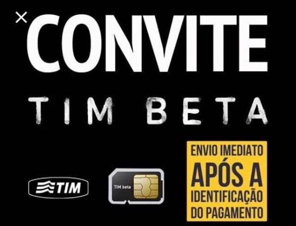 Convite Tim Beta, Envio Imediato Via Facebook
