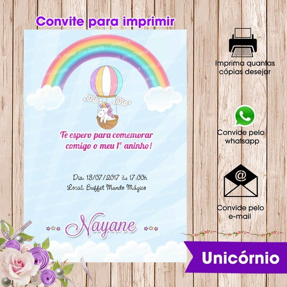 Convite Digital Unic Rnio Dourado Elo7 – Name
