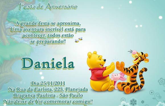 Convite Ursinho Pooh No Elo7