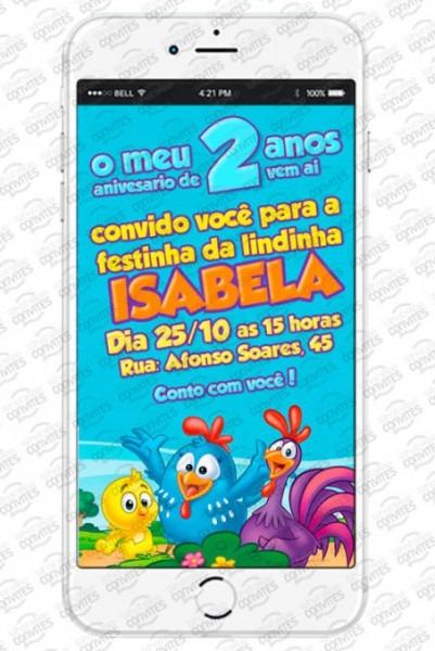 Arquivos Convite Virtual Galinha Pintadinha
