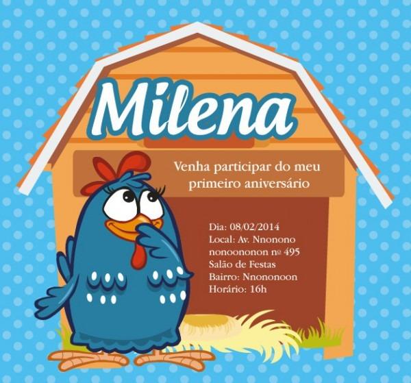 Convite Zap (virtual) Galinha Pintadinha No Elo7