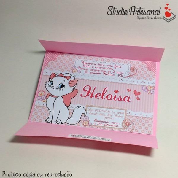 Convite Infantil Com Envelope Colorico