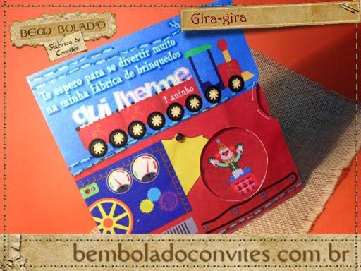Convite Infantil Fabrica De Brinquedo