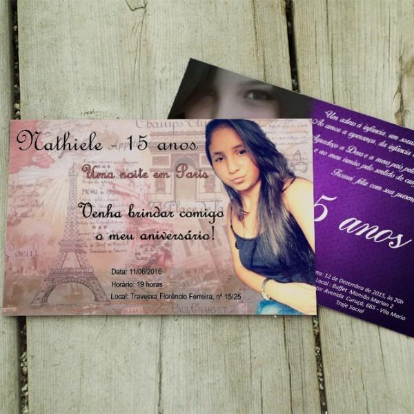 Convite Personalizado 15x21cm