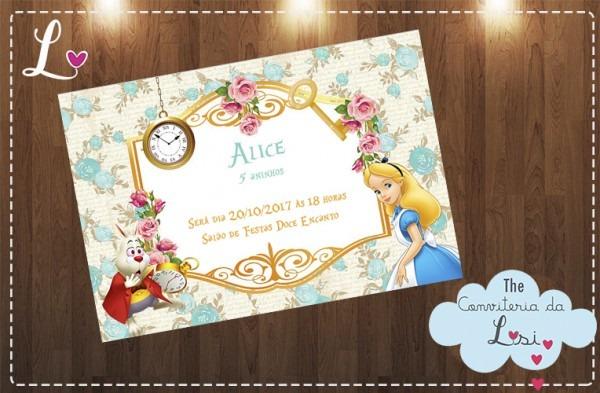 Convites Alice No País Das Maravilhas No Elo7
