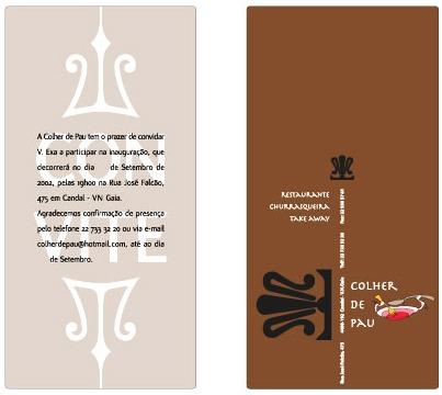 Fyer    Convite Inauguração  Restaurante Colher De Pau  Designer