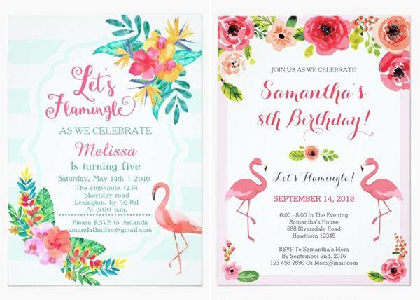 18 Convites Com Flamingo Para A Festa De 15 Anos