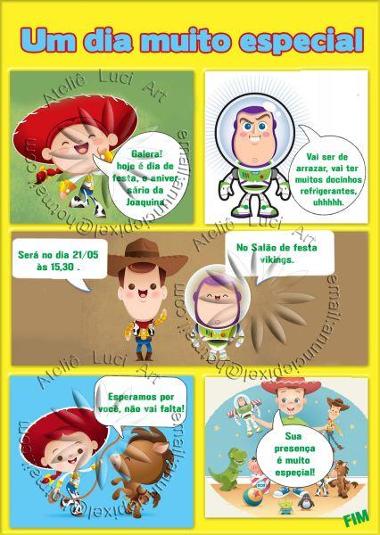 Convite Gibi Toy Story Baby