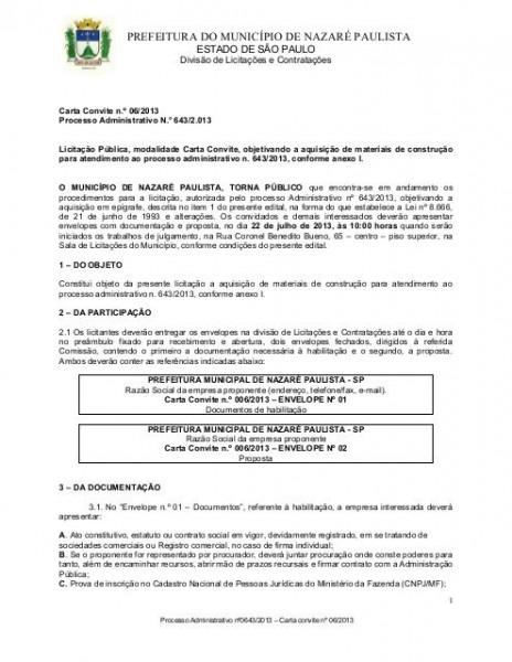 Edital Carta Convite 06 2013 Encontra