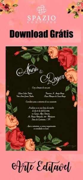 Tend Ncia Arte Para Convite De Casamento Gratis Word Como Fazer