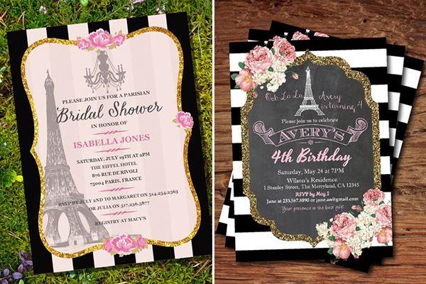 15 Convites Com Tema Paris Para A Festa De 15 Anos