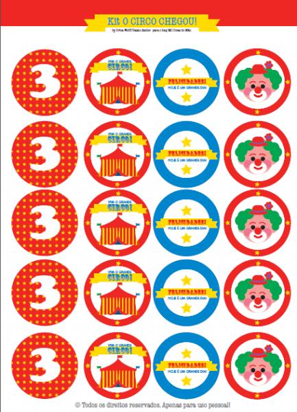 Festa Circo Para Imprimir (grátis!)   ᐅ Mil Dicas De Mãe