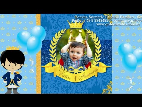 Convite Animado Príncipe Realeza