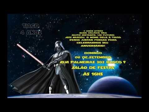Convite Aniversário Animado Star Wars