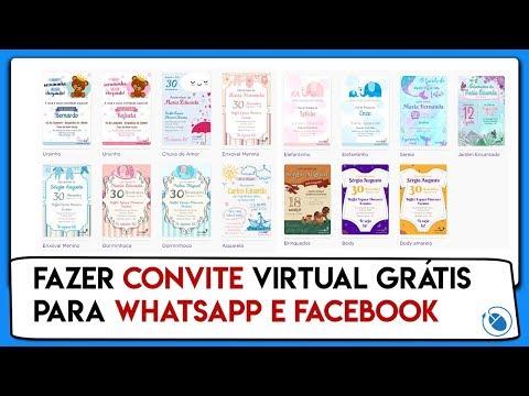 Como Fazer Convite Virtual Grátis Para Whatsapp E Facebook
