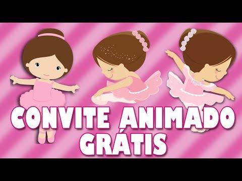 Convite Animado Bailarina Grátis