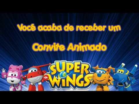 Convite Animado Super Wings Tkm Convites Animados