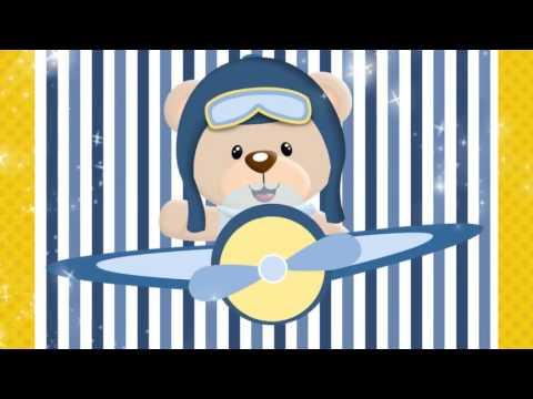 Convite Animado Ursinho Aviador